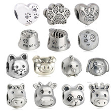 Buy Animals charms Sterling-silver-jewelry making charms love Pets charm fit bead bracelet DIY 925 sterling silver fine jewelry for $10.57 in AliExpress store