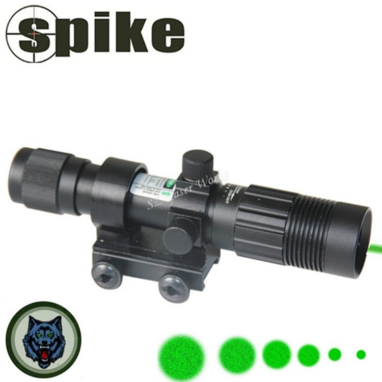 Tactical Hunting Adjustable 532nm green Laser Designator Illuminator Hunting Scope Sight with Mounts airsoft.gun Free Shipping(China (Mainland))