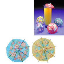 24pcs/Lot Paper Parasols Umbrella Cocktail Drinks Picks Sticks Holiday Wedding Event Party Supplies