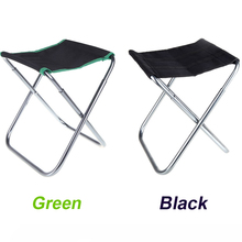 Portable Folding Aluminum Oxford Cloth Chair Outdoor Patio Camping Fishing Chair with Carry Bag Green/Black