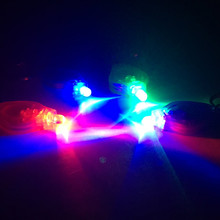 5pcs LED Keychain Torch Flashlight Finger Light Blue/Green/Red/Purple Lamp For Outdoor Lights Hunting Fishing Camping Lamp