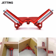 JETTING Red Adjustable Jaws 90 Degree Right Angle Clip Aluminum Picture Frame Corner Clamp Woodworking Hand Tool Kit