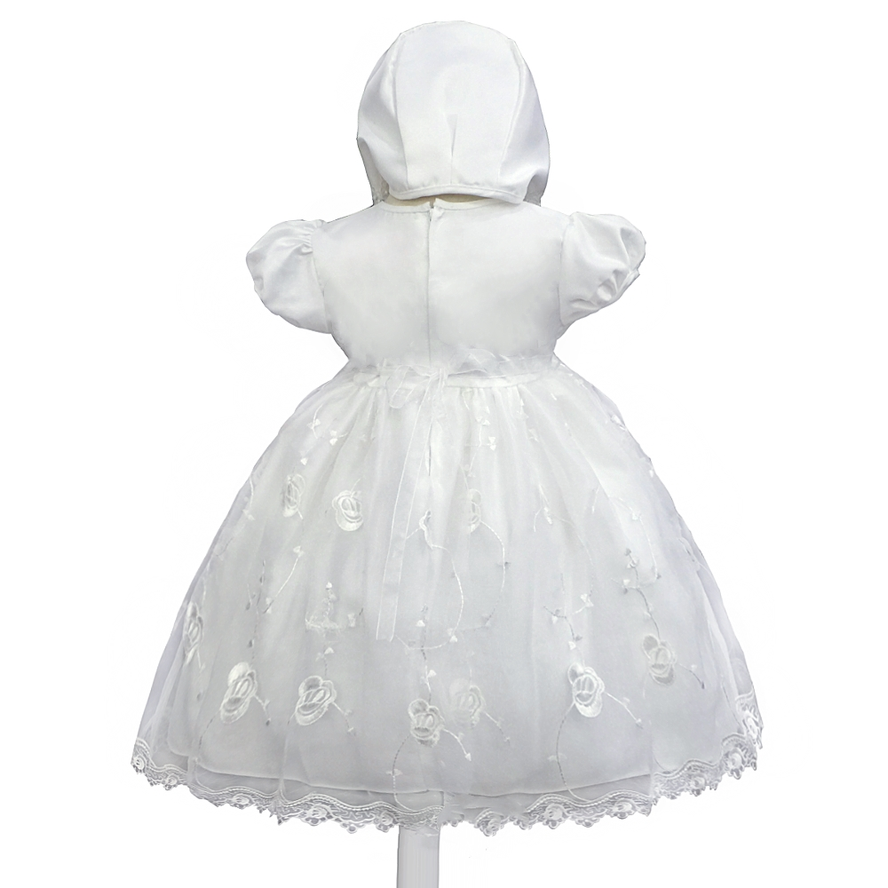 fdedf17752b3 2019 Cotton Lining 3M 18M Infant Baptism Ball Gown For Baby Dress ...