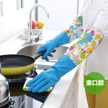 2017 Guante Limpieza Gloves Latex Cleaning Dishwashing Durable Household High End Extended Winter Use Waterproof Wz(China)