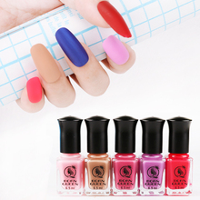 1 Bottle 6.5ml BORN QUEEN Matte Dull Nail Polish Fast Dry Long-lasting Nail Art Varnish Lacquer Black White Pink Nail Color