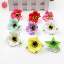 20pcs 4cm Silk Artificial Chrysanthemum Flowers For Wedding Home Cloth Decoration Daisy Scrapbooking Craft Accessories Flowers