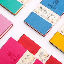 2017 new cute leather personal diary notebook ,kawaii cartoon student personal organizer planner,candy traveler journal ,A6