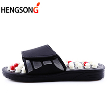 HENGSONG Acupoint Massage Slippers Sandal For Men Feet Chinese Acupressure Therapy Medical Rotating Foot Massager Shoes Unisex(China)