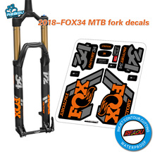 2018 fox34 mountain bike front fork stickers bicycle fox 34 front fork decals(China)