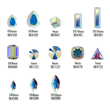 12pcs Different Shape Nail Art Pointed Rhinestones for Nail Art Crystal AB Colorful for 3D Nails Decoration(China)