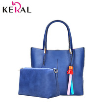 Hot  women famous brand 2 set bags PU leather bag five colors can choose High quality composite bag luxury hand bag
