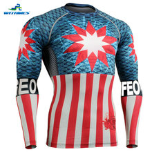 CFL-37 Quick Dry Tights MMA T Shirt Crossfit Compression Rugby Jersey PRO Long Football Tops Basketball Base Layer Training Wear