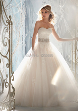 Sweetheart Tulle Overlaying Beaded Lace Appliques Wedding Dresses with Removable Lace Coverlet and Beaded Satin Tie Sash