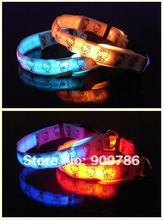 Wholesale LED Dog Pet Flashing Light Up Safety Collar, free shipping Luminous LED Dog Collar
