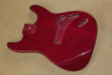 hot sale Factory custom  DIY claret-red Ash string-thru-body guitar body ,color can be changed as your request