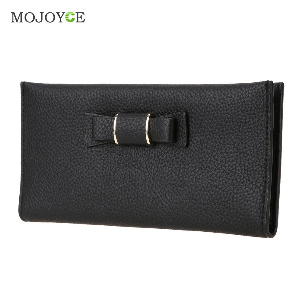 Fashion  Women PU Leather Bow Wallet Card Holder Coin Purse Women Clutch Purses Carteira mujer Feminina  ID Credit Card Purse<br><br>Aliexpress
