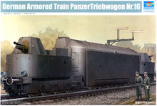 Trumpeter 1/35 scale model 00223 World War II German heavy armored train Nr.16