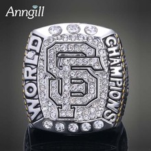 ANNGILL San Francisco Giants World Series Replica Championship Rings High Quality Men Ring Replica Sport Jewelry Drop Shipping(China)