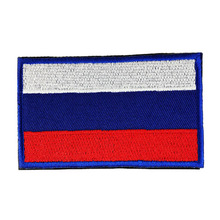 National Flag Embroidery 3D Badge Patch Military Armband Backside Tactical Patches Russia