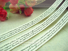 Min.order is $ 5 (mix order)FREE SHIPPING ,1.5CM width, Zakka cotton label,romantic writings label,BOBO DIY accessory,F001#-8