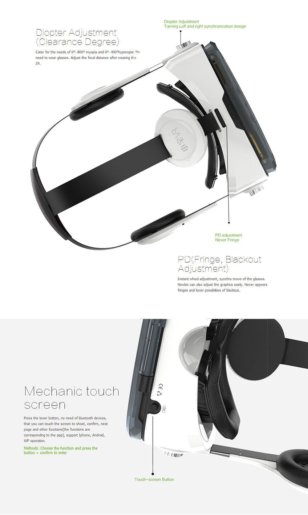 Virtual Reality Google Cardboard VR BOX Original bobovr Z4/ Z4 Mini 3D glasses+Bluetooth Controller for 4-6' Smart Mobile Phone 17