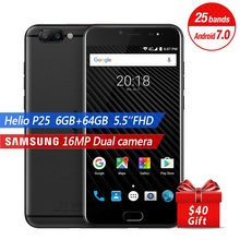 Ulefone T1 Global Version Dual Rear Camera Mobile Phone 5.5'' FHD Helio P25 Octa Core Android 7.0 6GB+64GB 16MP 4G Cellphone