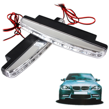 5pairs 8 LED Universal Auto Car DRL LED Daytime Running Light Auxiliary Lamp High Power with Super White Light