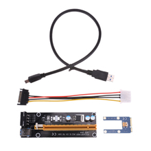 Mini PCIe riser PCI express x16 Riser for Laptop External Graphics Card GDC Miner mini PCIe to PCI-e slot Expansion riser Card(China)