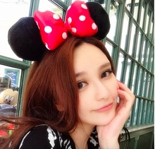 women /Lady  Headbands Mickey Minnie Mouse Ears Hair Hoop  Bowknot Headwear  Accessories