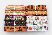 wm  7/8inch 22mm mix ribbon 10 item Halloween series 10 yards/roll  grosgrain ribbon  free shipping