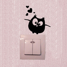 Wall Stickers Owl Birds Branch Heart For Kids Baby Room Vinyl Wall Decal 3SS0154(China)