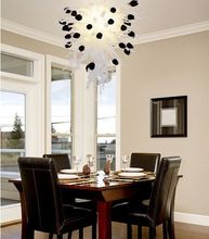 Elegant Table Top Design Valentine Rose Series LED light handmade Blown Glas Chandelier Lighting(China)