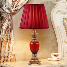 TUDA wedding celebration red table lamp contemporary and contracted new marriage room present Chinese style table lamps