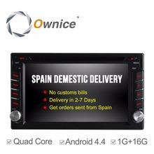 Ownice C300 Quad Core Android 4.4 Universal Car DVD Player GPS Navigation 2Din Car Stereo Radio 16G ROM support mirror link IPOD