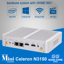 Minipc Windows 10 Intel N3150 Quad Core Nettop PC Dual Gigabit LAN Port 4*USB 3.0 256GB SSD Linux Mini PC Portable Intel NUC pc