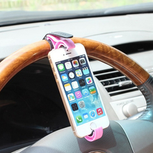 Universal Car Steering Wheel Mobile Phone Holder Bracket for iPhone 4 4S 5 6 6s Samsung Galaxy S4 S5 S6 Note 3 4 MP4 PDA GPS