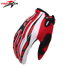 PRO-BIKER Summer Motorcycle Full Finger Protective Racing Gloves Off-road Full Finger Knight Riding Motor Motorcycle Gloves(China)
