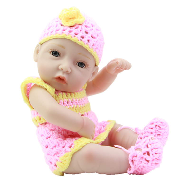 With Painted Hair 11 Inch Girl Newborn Baby Doll Full Bodied Silicone Vinyl Princess Girls With Lovely Set Kids Playmate<br><br>Aliexpress