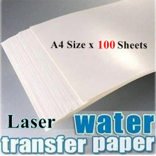 (100sheets/lot) Laser Water Slide Decal Paper Transparent/Clear Color A4 Size 210*297mm (8.3*11.7 inch) No Need Varnish