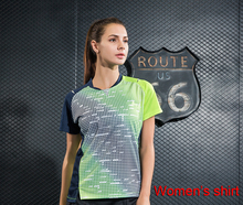 New badminton shirt Women's , Quick Dry breathable sportswear trainning shirt , female table tennis shirt W1013(China)