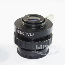 1pcs 0.33X 1/3X C-Mount to Trinocular Microscope Ring Adapter M28 Glass Lens for C-mount CCD CMOS Video Camera Microscope