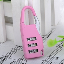 Padlock Handbag Suitcase Drawer Password Padlock Number Lock Mini 3 Digit Combination Password Padlock Lock(China)