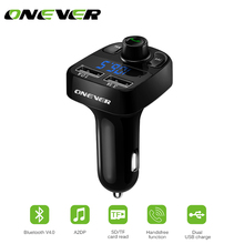 Car Kit Bluetooth MP3 Player Hands-free Call Wireless FM Transmitter Modulator 4.1A Dual USB Display Micro SD TF Music Playing(China)