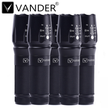 5pcs/lot 10000 Lumens Flashlight 5-Mode CREE XM-L T6 LED Flashlight Zoomable Focus Torch by 1*18650 Battery or 3*AAA Battery