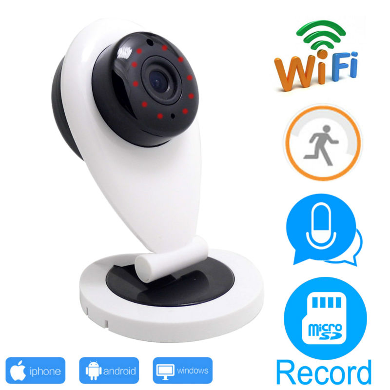 INQMEGA HD IP Camera Wifi Cam Home Security IP Wireless Network Night Vision Alarm Motion Detection EU/US Version cam<br>