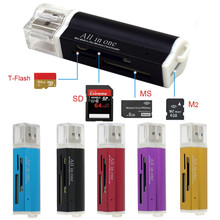 for Micro SD TF M2 MMC MS PRO DUO All in 1 USB 2.0 Multi Memory Card Reader