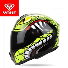 2017 New YOHE Full Face motorcycle helmet ABS motocross motorbike helmets model YH-966 have 8 kinds of colors size M L XL XXL