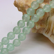 "Discounts!Light green aventurine chalcedony 8mm round shape loose beads 15"" DIY stone suitable jewelry design bracelet necklace"