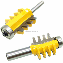 "1/2"" & 1/4"" Shank Reversible Finger Joint Glue Joint Router Bit Woodwork Cutter Tool For Solid Wood Particle Board Plywood"