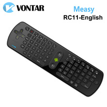 [Genuine] Measy RC11 fly Air Mouse Keyboard English version Gyro Handheld 2.4G Wireless Remote Control for TV BOX Tablet Mini PC